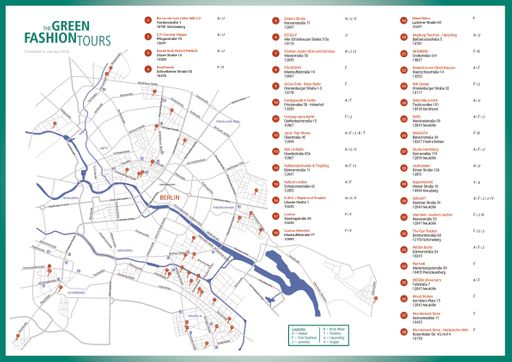 green fashion tour map