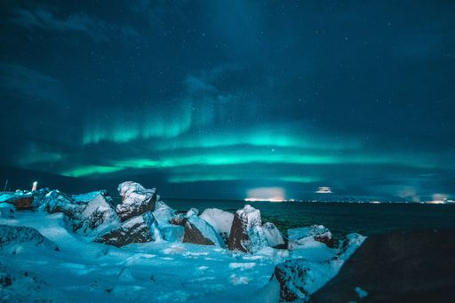 northern lights beach surf
